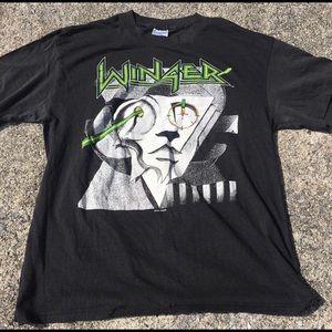 Vintage 1988 Winger Tour Concert Tee T-Shirt XL